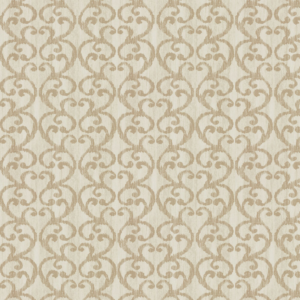 Baroc Wallpaper - Champagne - by Harlequin