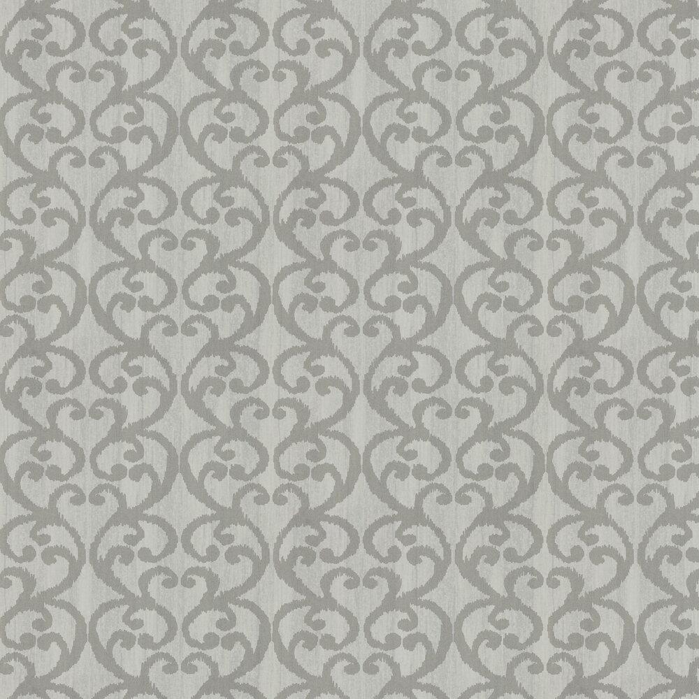 Baroc Wallpaper - Mist - by Harlequin