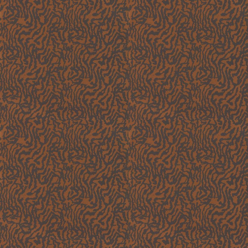 Seduire Wallpaper - Ebony & Copper - by Harlequin
