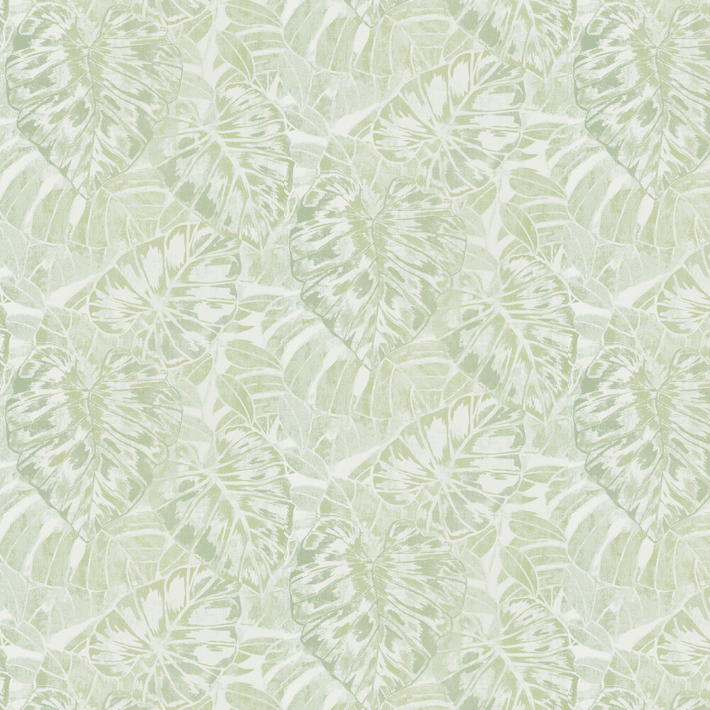 Leaves Wallpaper - Almond - by Casadeco