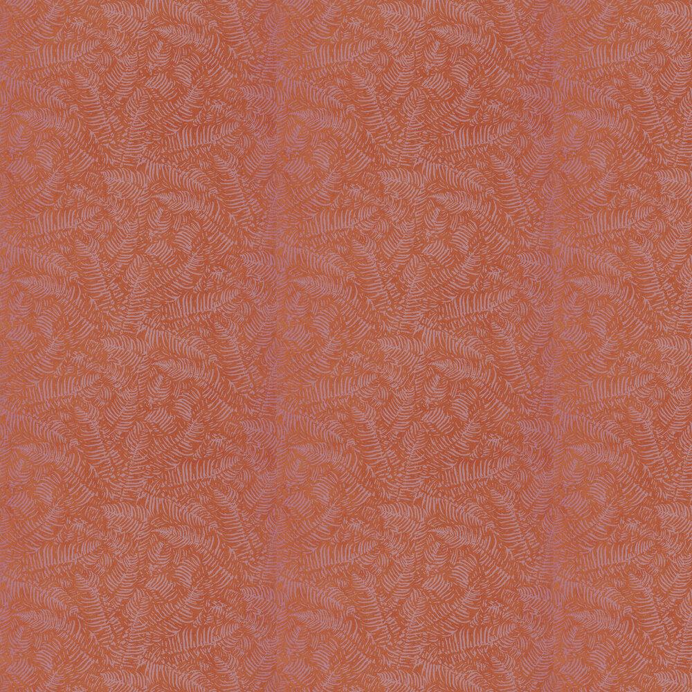 Fern Wallpaper - Orange - by Casadeco