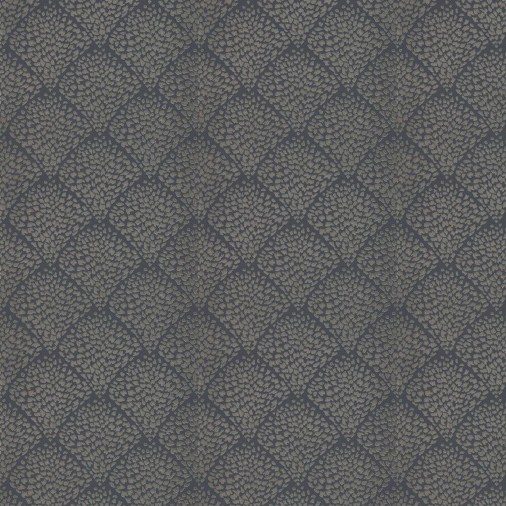 Charm Wallpaper - Platinum & Shadow - by Harlequin