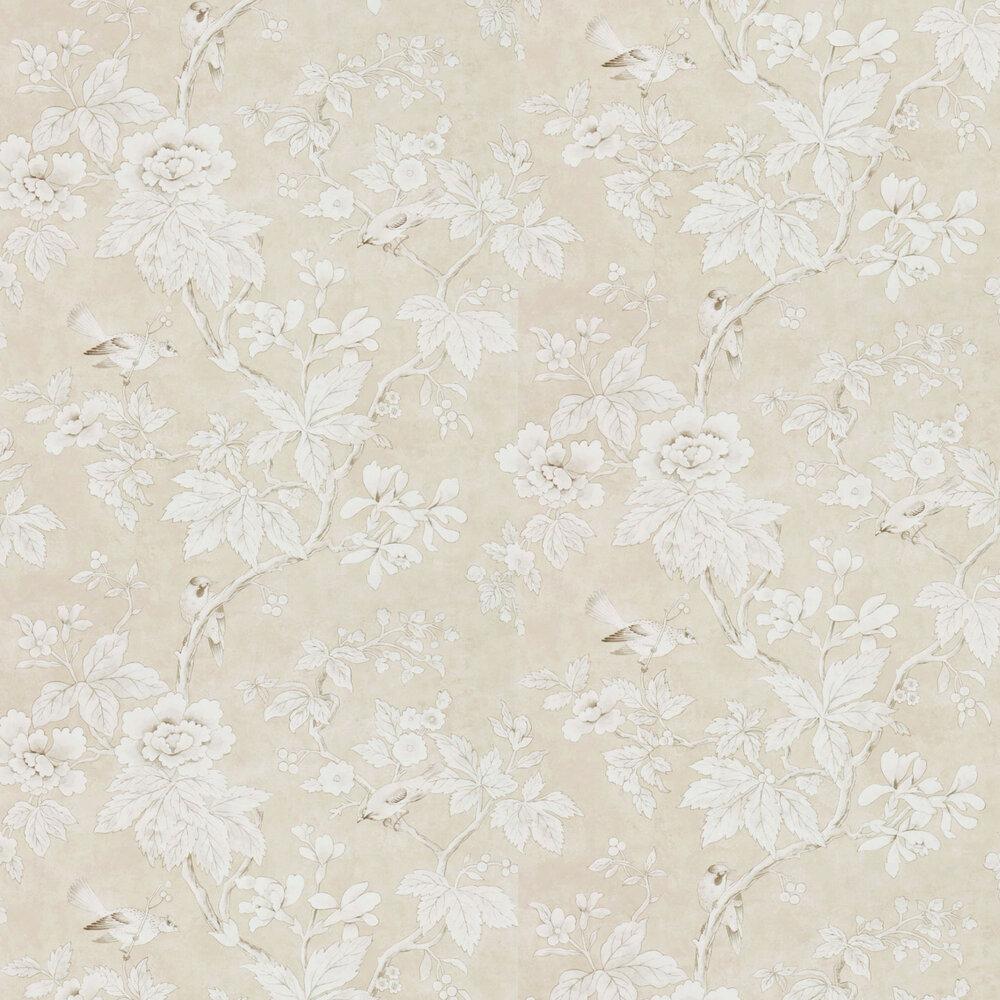 Chiswick Grove Wallpaper - Linen - by Sanderson