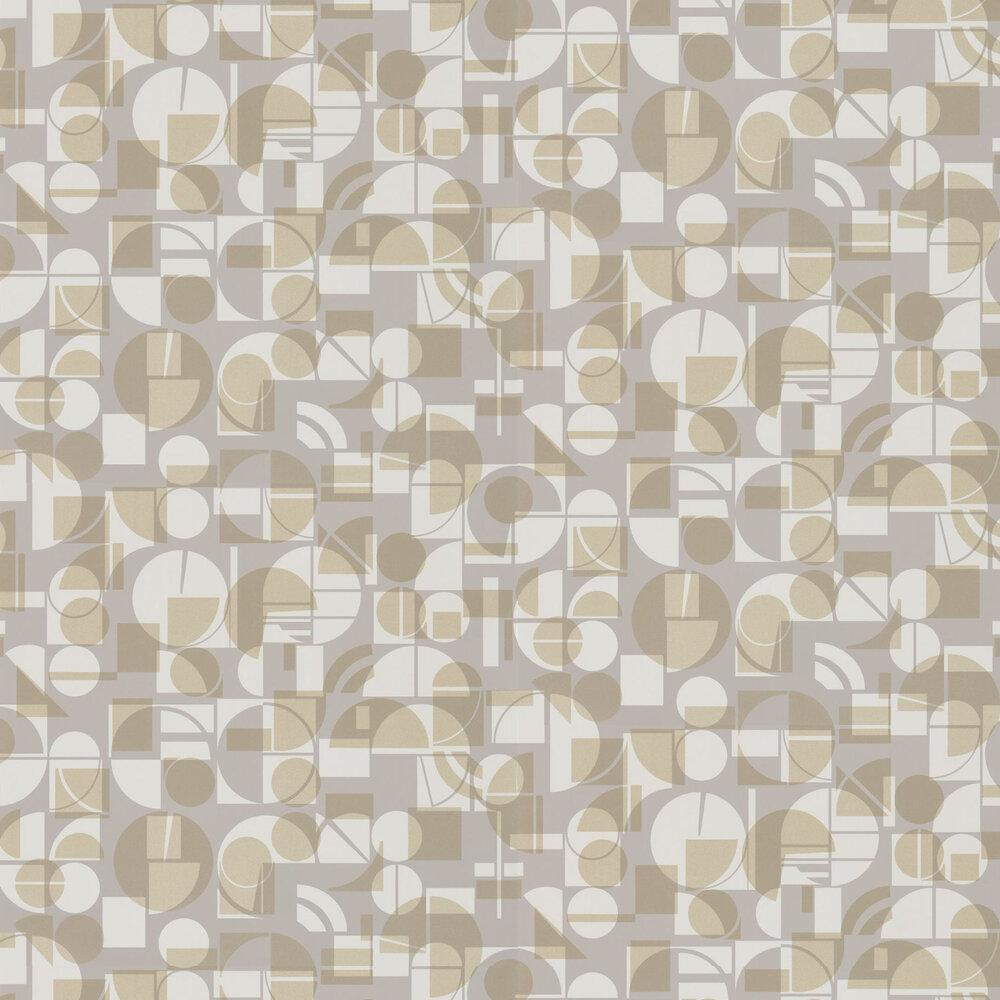 Segments Wallpaper - Heather and Gold - by Harlequin