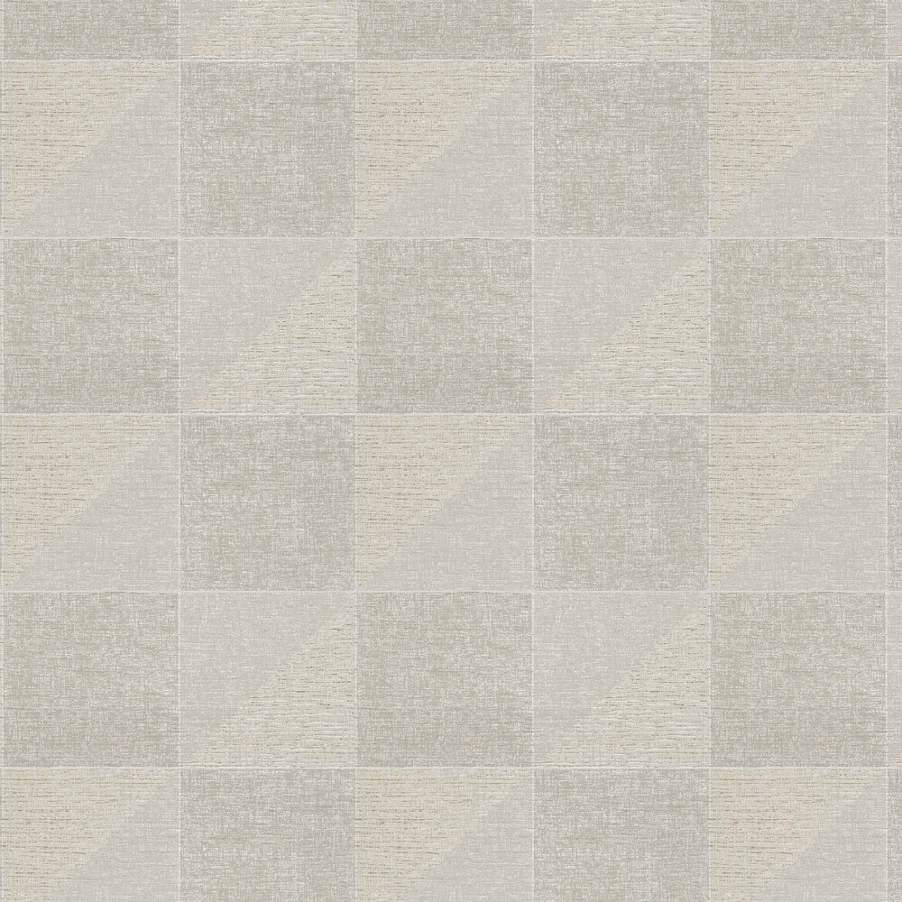 Metroplex Wallpaper - Taupe and Clay - by Harlequin