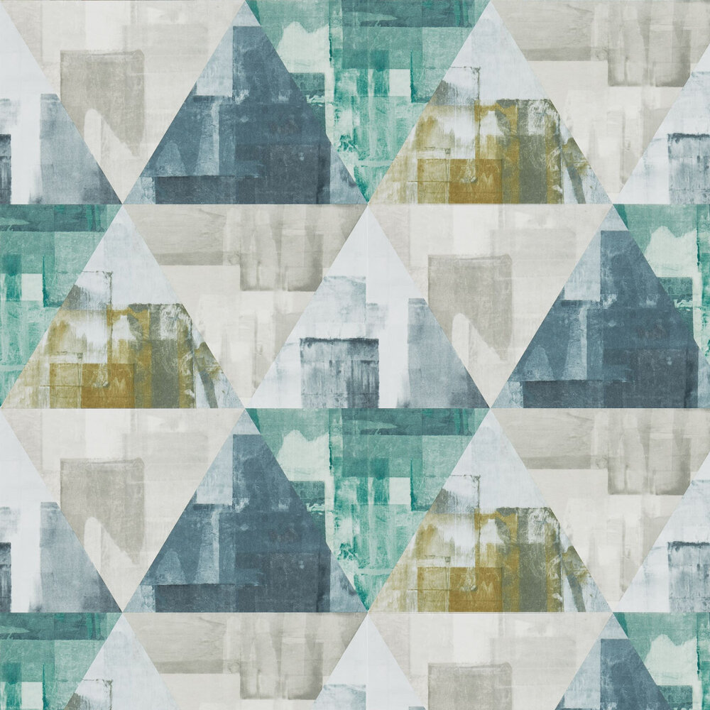 Geodesic Wallpaper - Emerald and Linden - by Harlequin