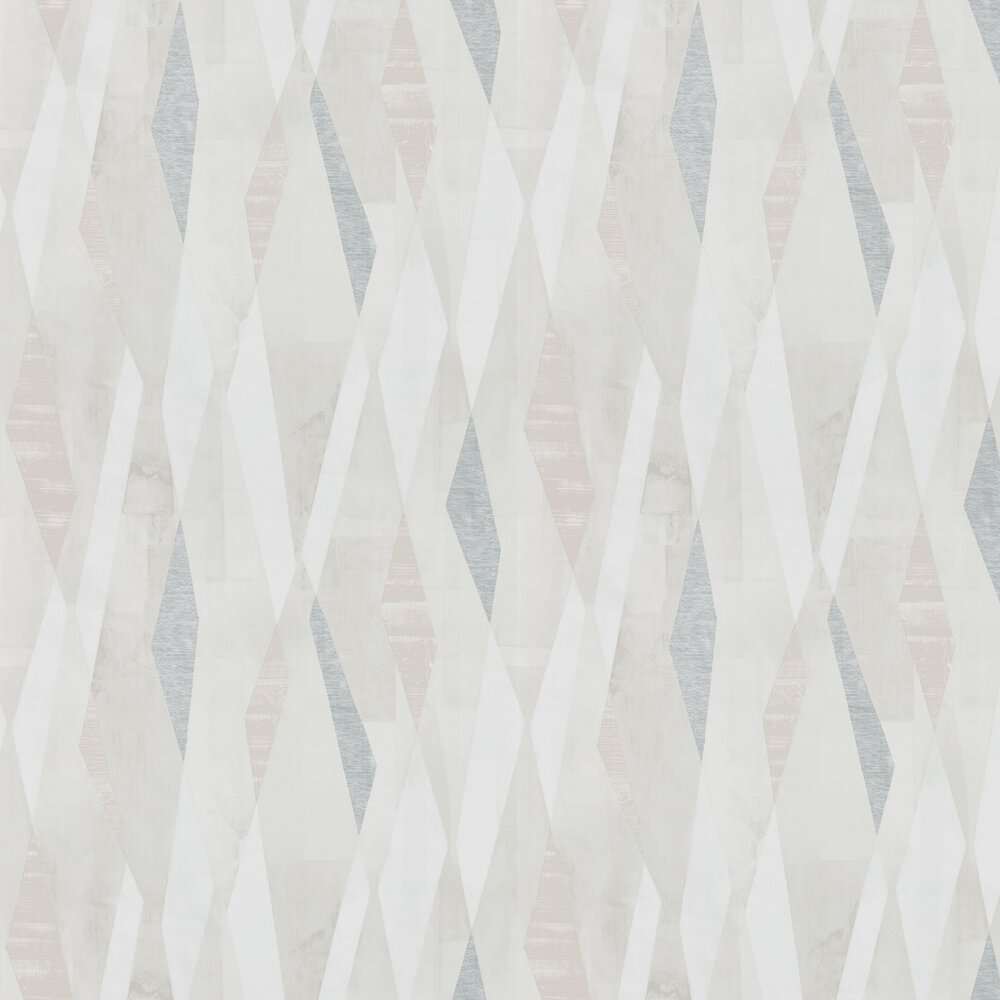 Vertices Wallpaper - Blush and Clay - by Harlequin