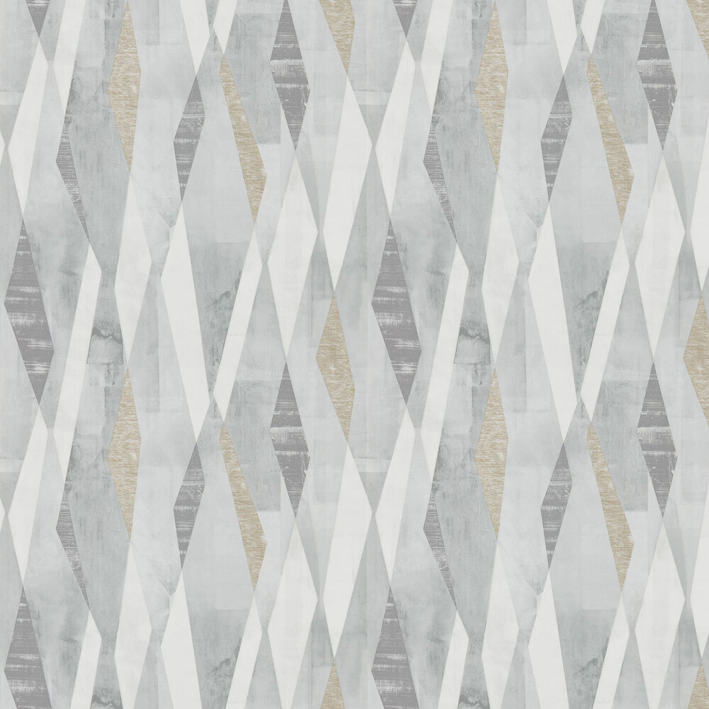 Vertices Wallpaper - Slate and Concrete - by Harlequin