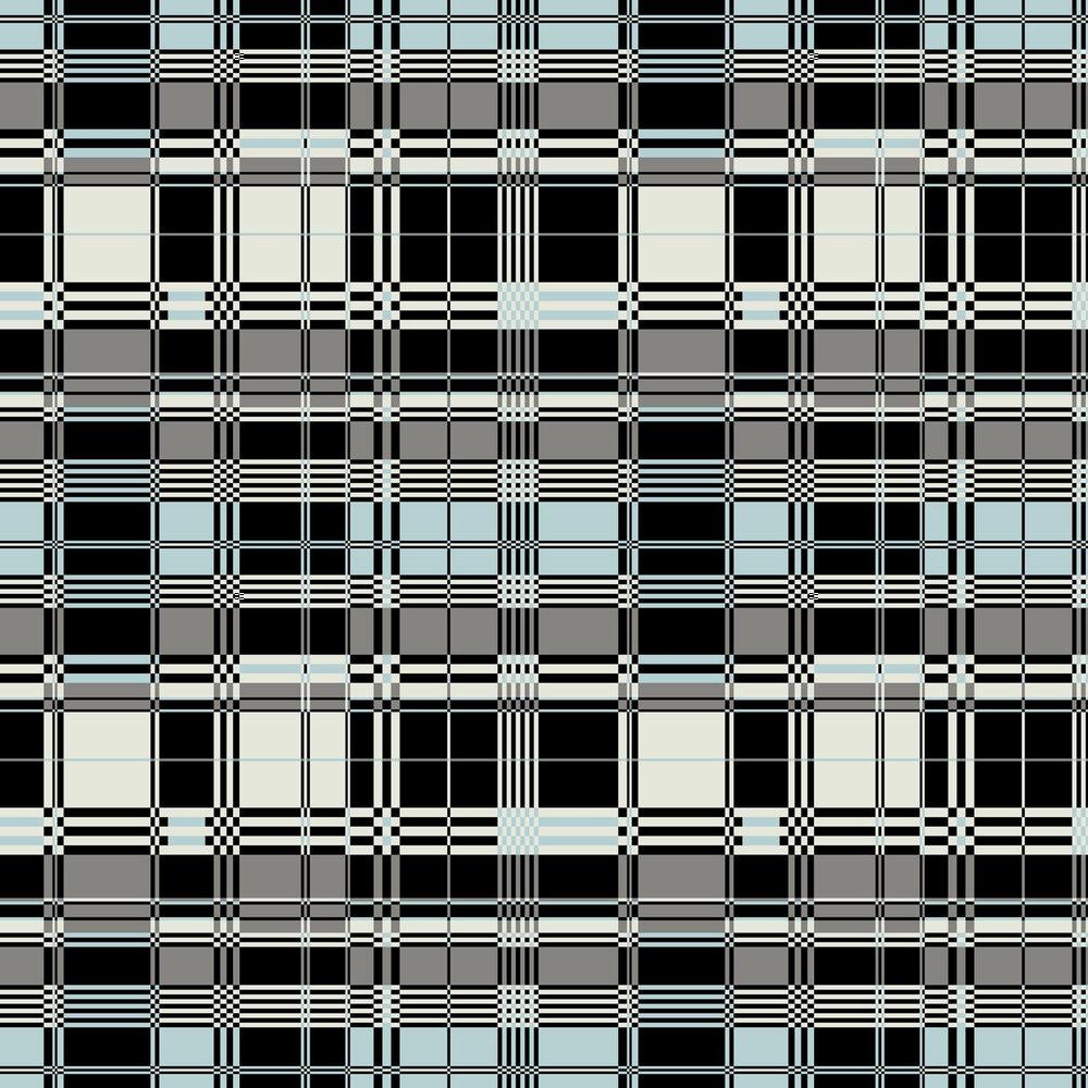 Basque Wallpaper - Sky Blue - by Jean Paul Gaultier