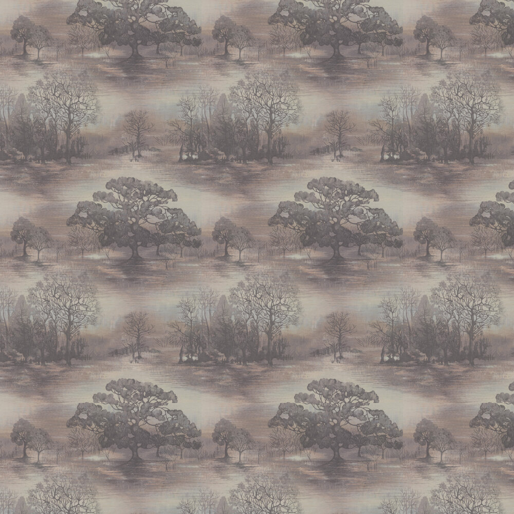 Moonstruck Wallpaper - Charcoal - by Jane Churchill
