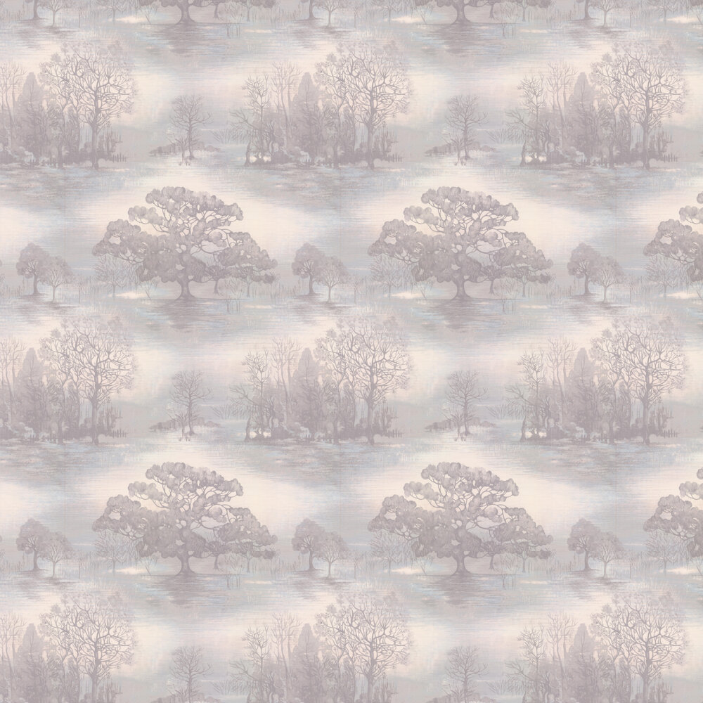 Moonstruck Wallpaper - Silver Pink - by Jane Churchill