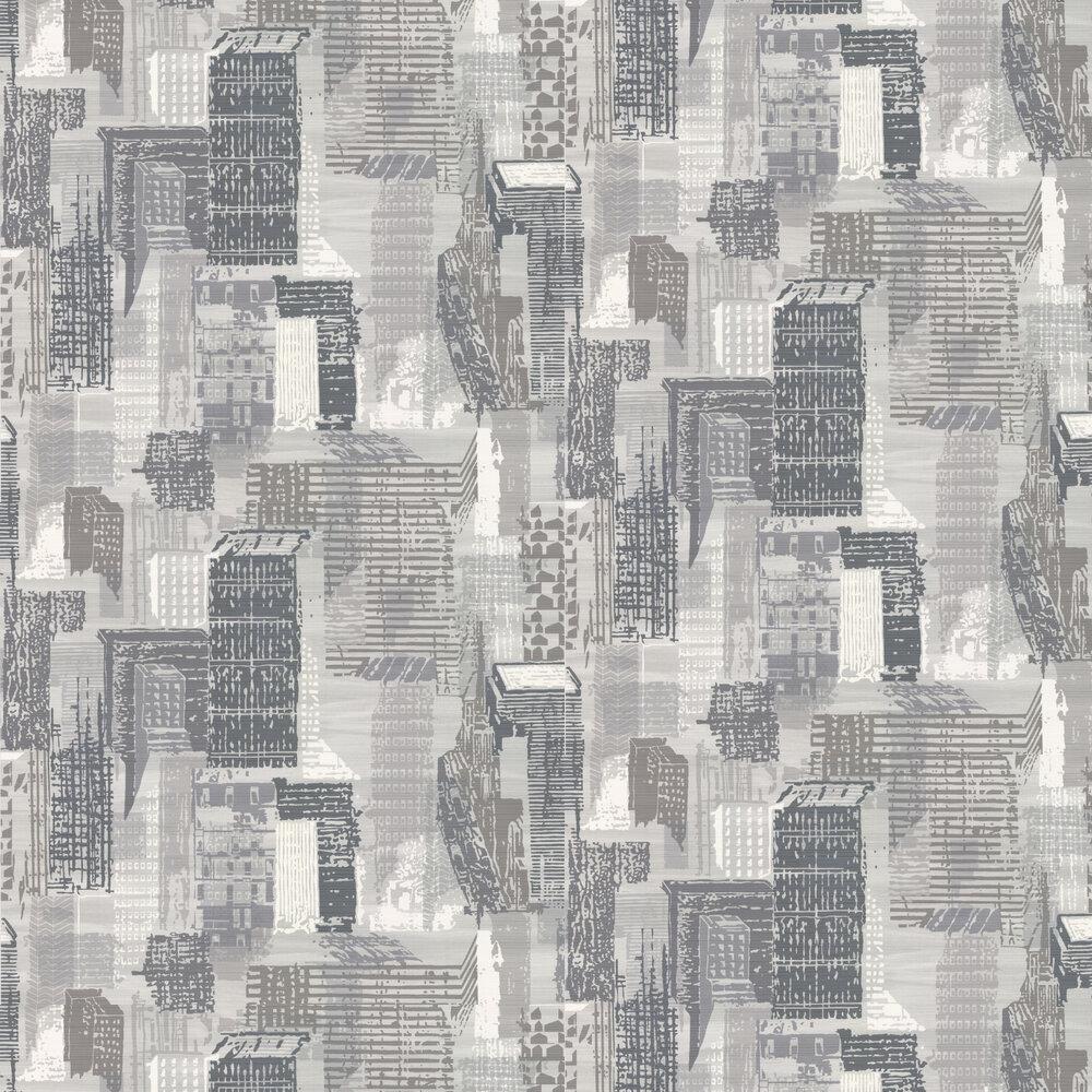 Jane Churchill Cityscape Black / White Wallpaper - Product code: J171W-01