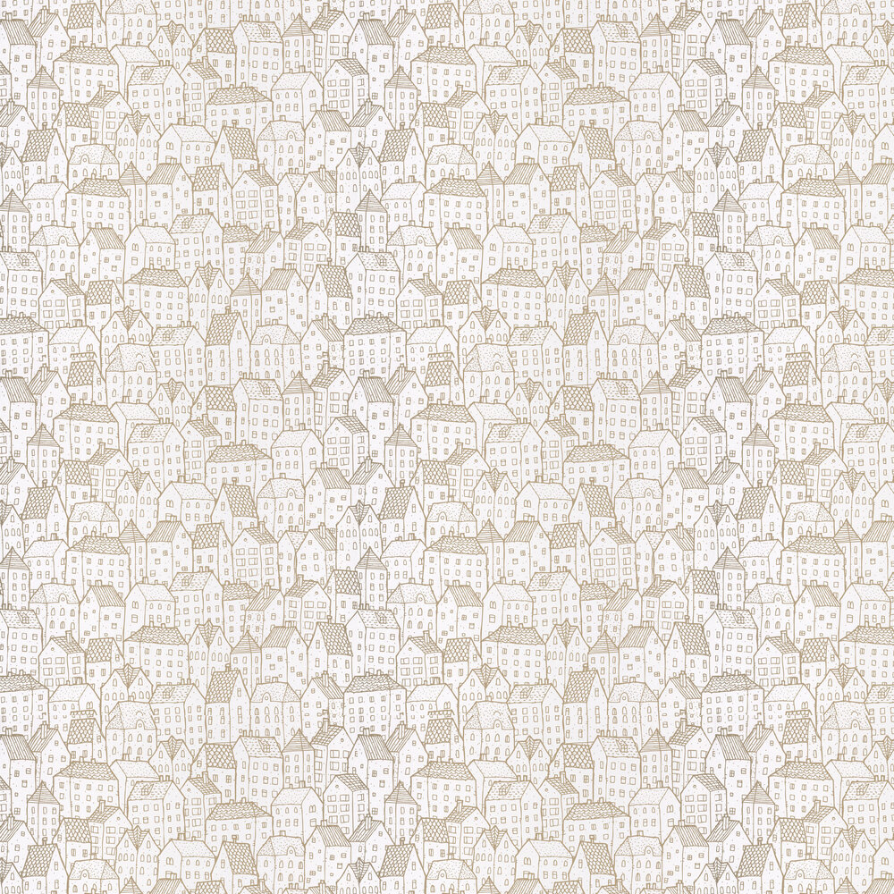 Maison Wallpaper - Gold - by Caselio