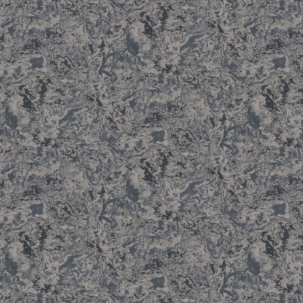 Cloud Marble Wallpaper - Dark Blue / Silver - by SketchTwenty 3