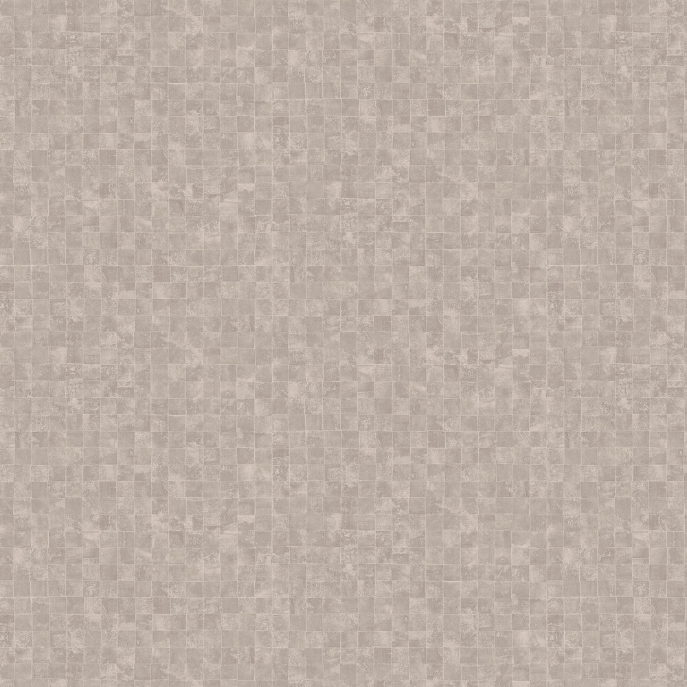 Mosaic Wallpaper - Taupe - by SketchTwenty 3