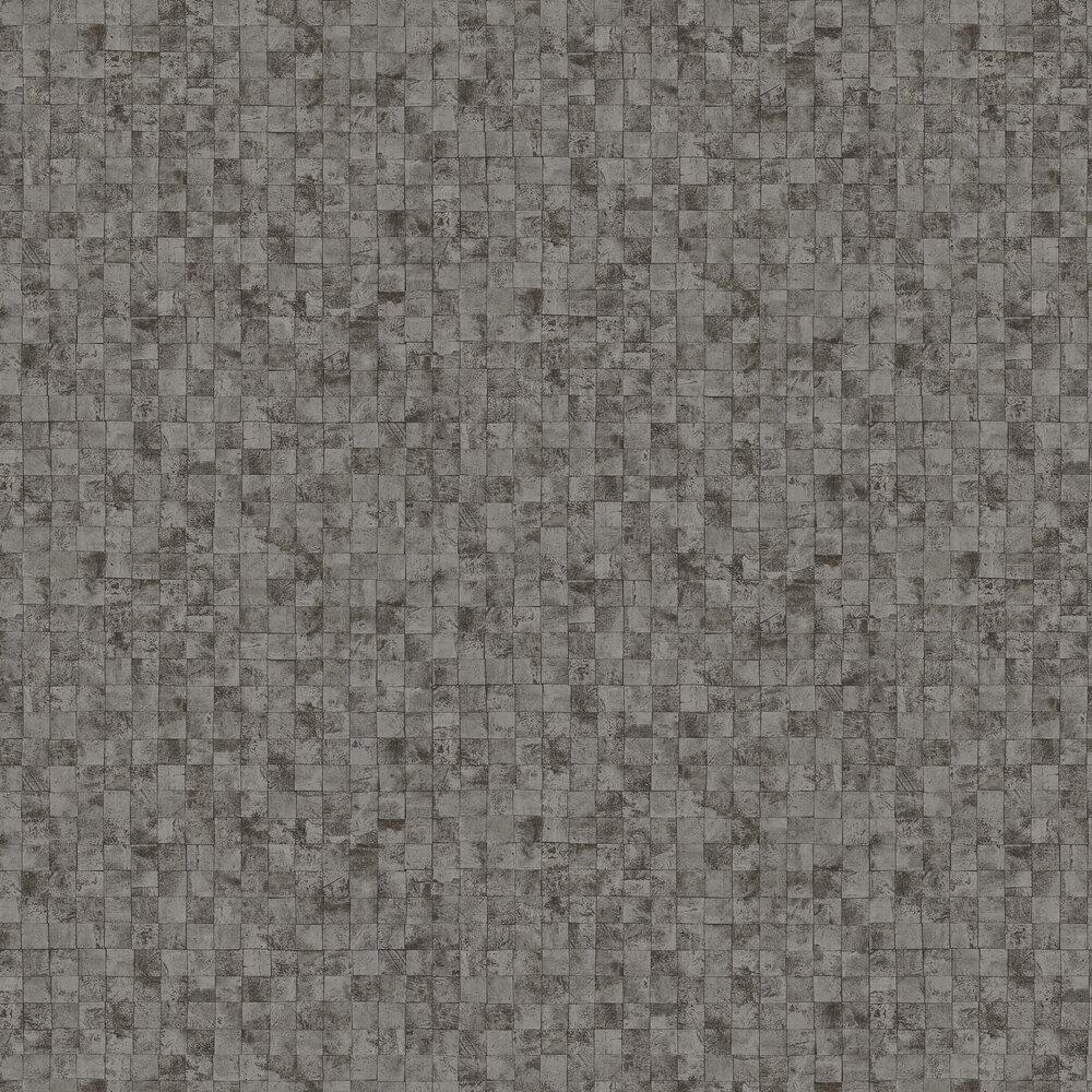 Mosaic Wallpaper - Silver / Black - by SketchTwenty 3