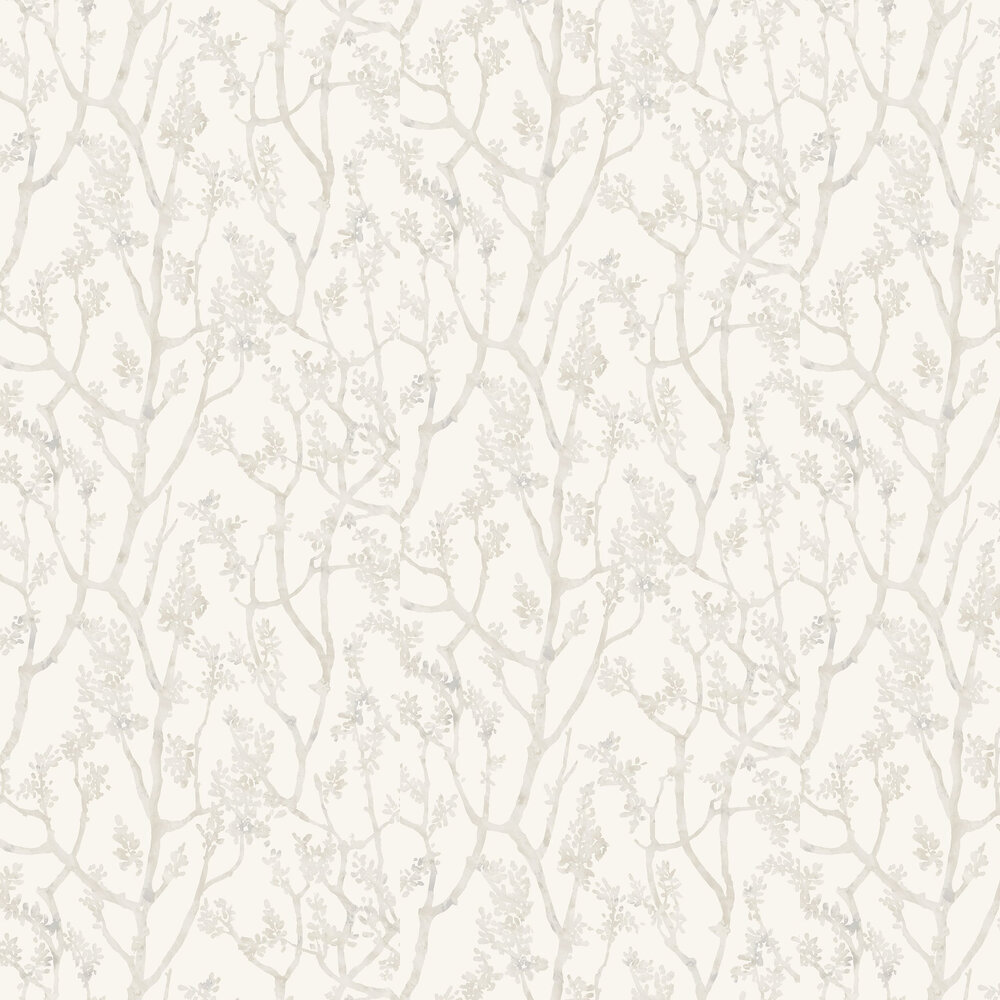 Arbre Wallpaper - Shadow White - by Casadeco