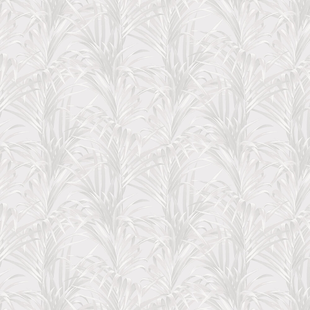 Bamboo Wallpaper - White and Silver - by Casadeco