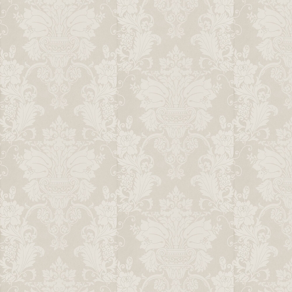 Damask Wallpaper - Pale Gold - by Casadeco