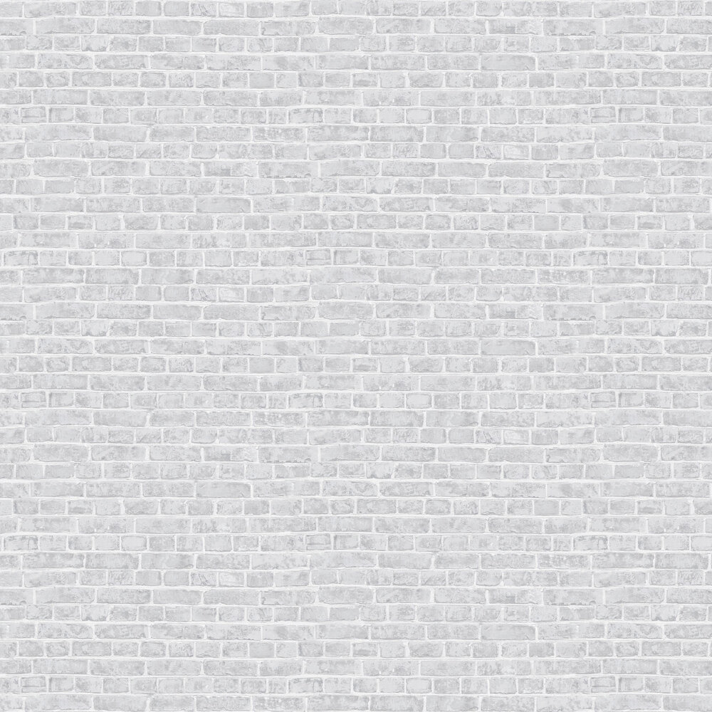 Brick Wallpaper - Grey and White - by Casadeco