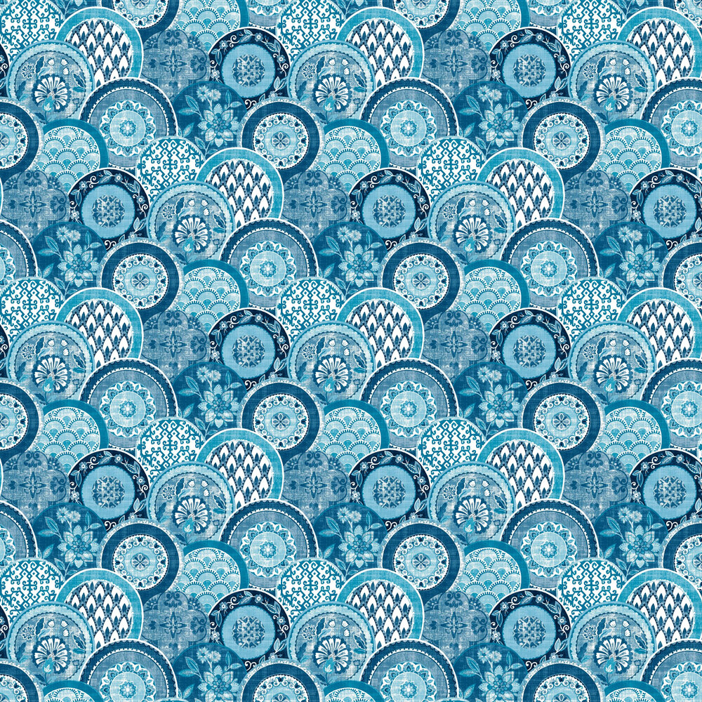 Laguna Wallpaper - Blue - by Albany
