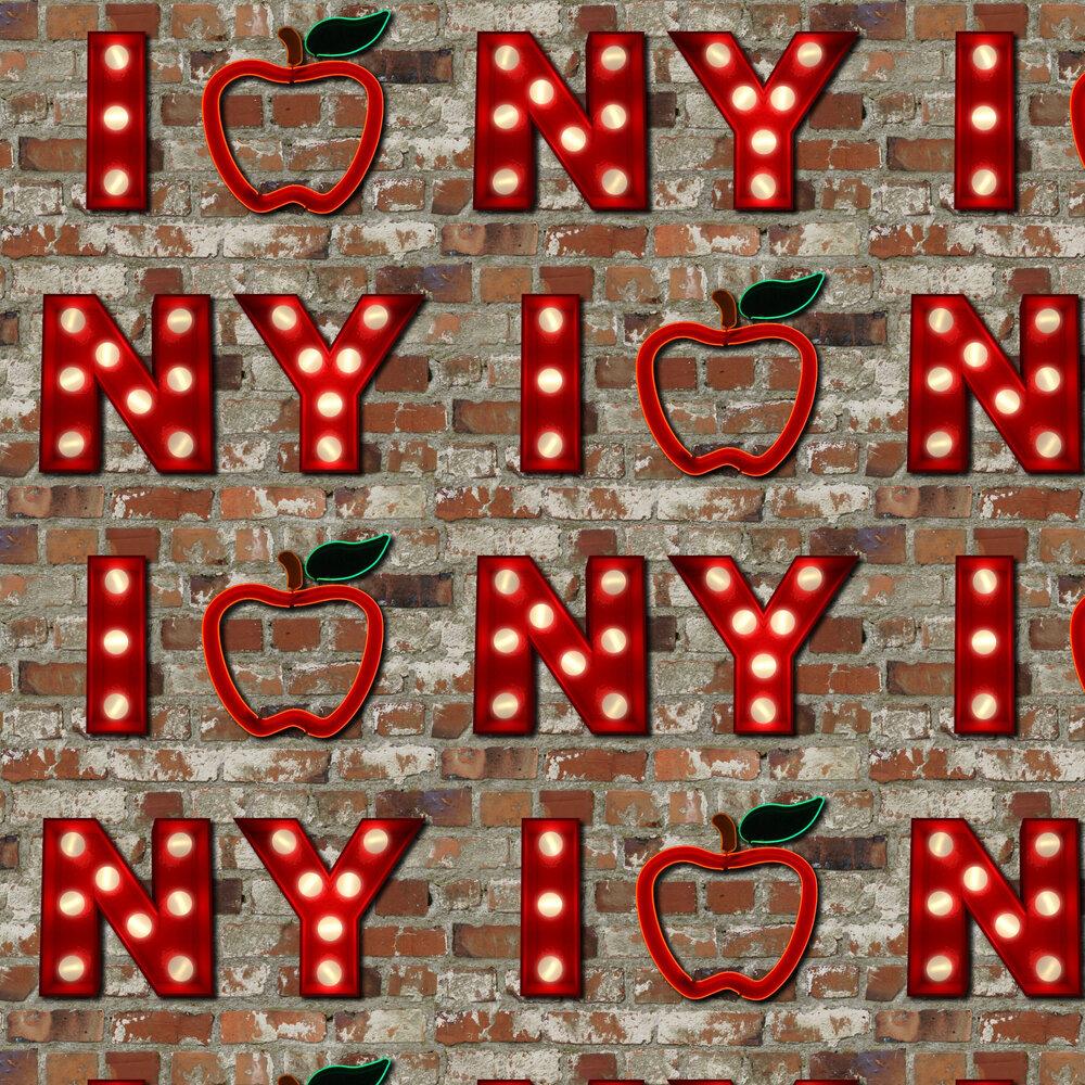 Albany I Apple NY Brick Red Wallpaper - Product code: 102536