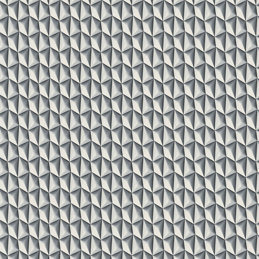 Concrete Geometric Wallpaper - Grey and White - by Albany