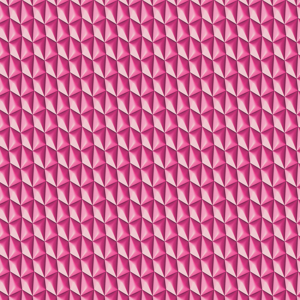 Concrete Geometric Wallpaper - Hot Pink - by Albany