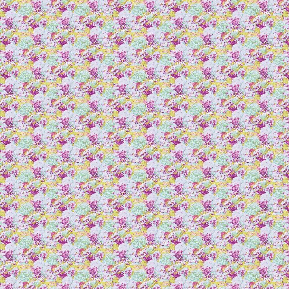 Wilworth Wallpaper - Lime Green / Pink - by Aire