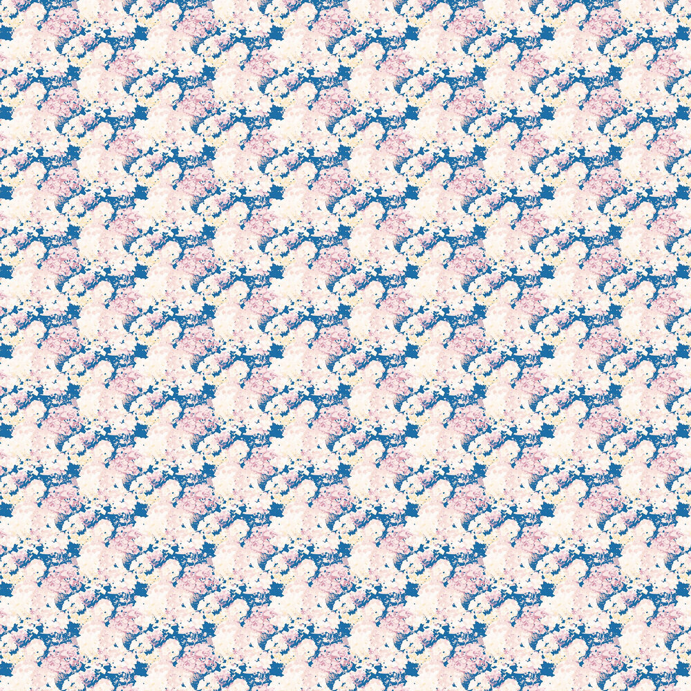 Wilworth Wallpaper - Blue / Pink - by Aire