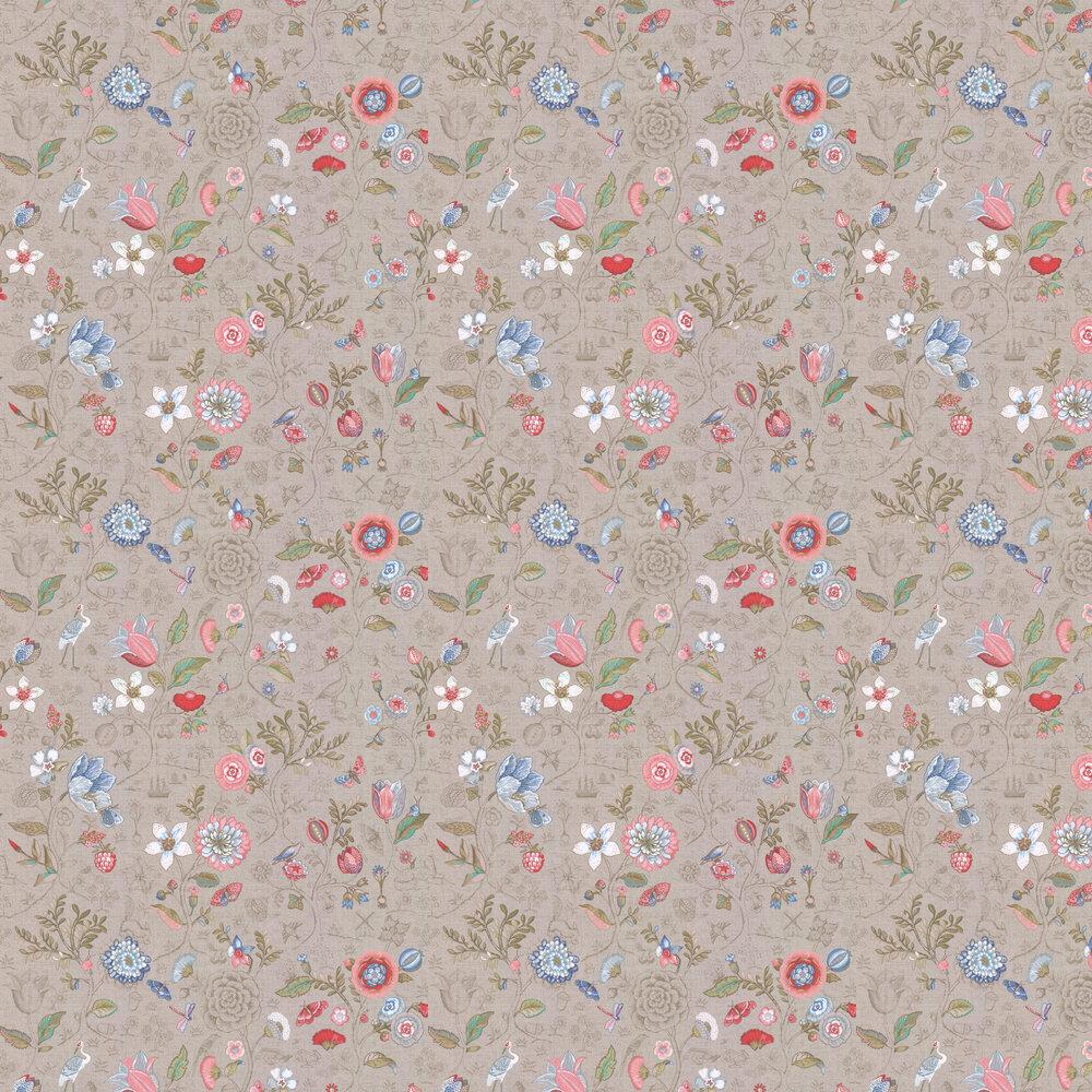Spring to Life Wallpaper - Dark Khaki - by Eijffinger