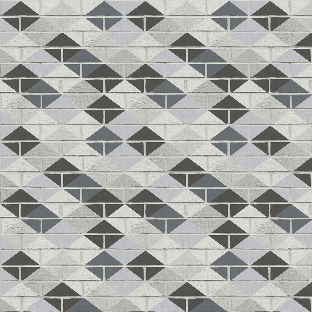 Harlequin Brick Wallpaper - Monochrome - by Albany