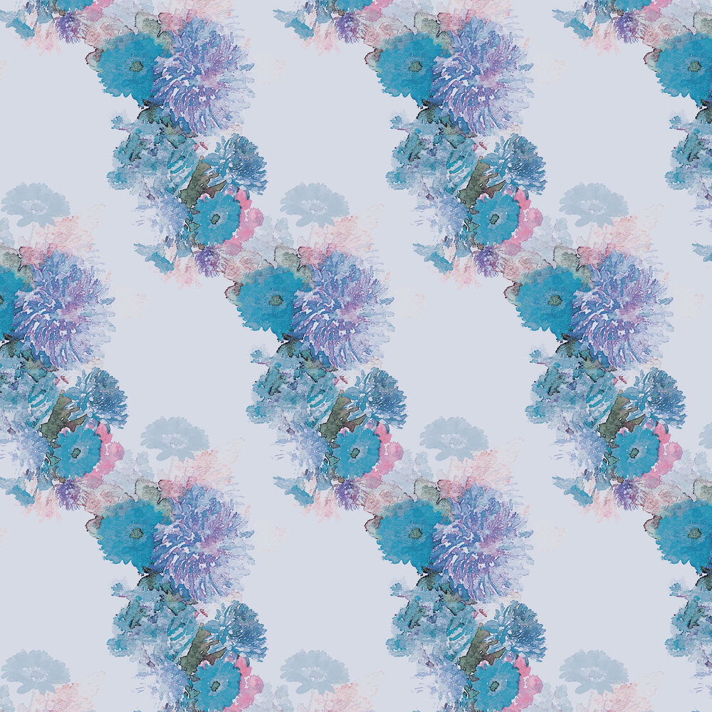 Highgarth Wallpaper - Blue / Purple - by Aire