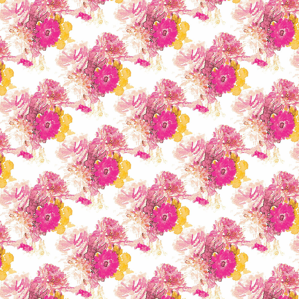 Beardwood Wallpaper - Pink / Yellow - by Aire