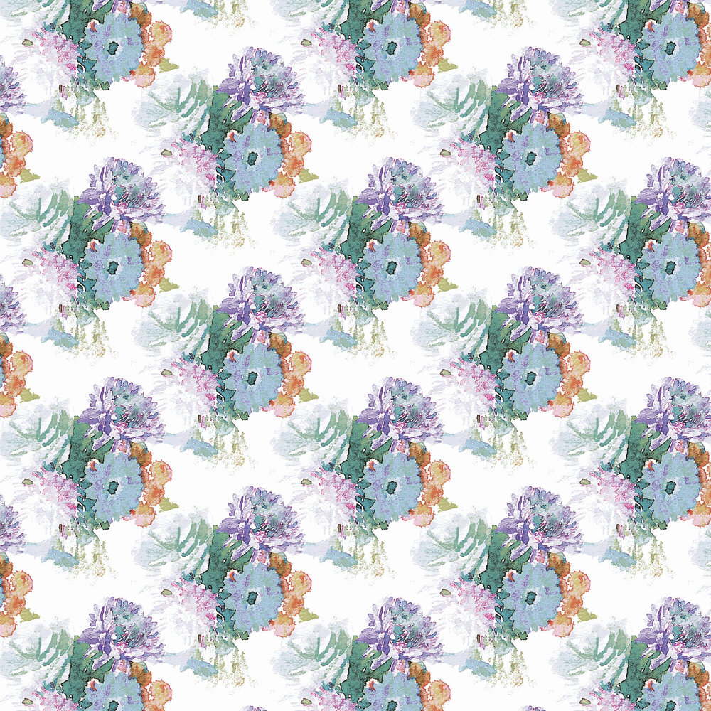 Beardwood Wallpaper - Purple / Orange foil  - by Aire