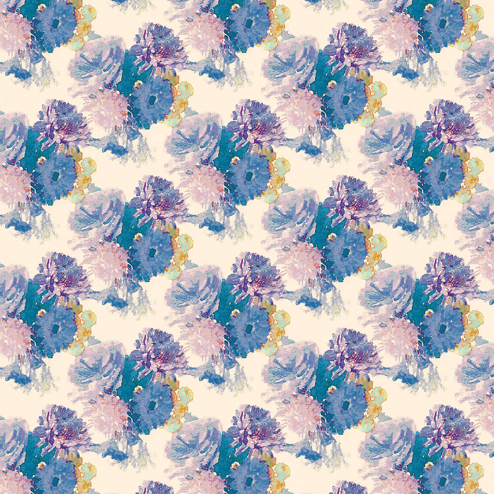 Beardwood Wallpaper - Purple / Blue foil - by Aire