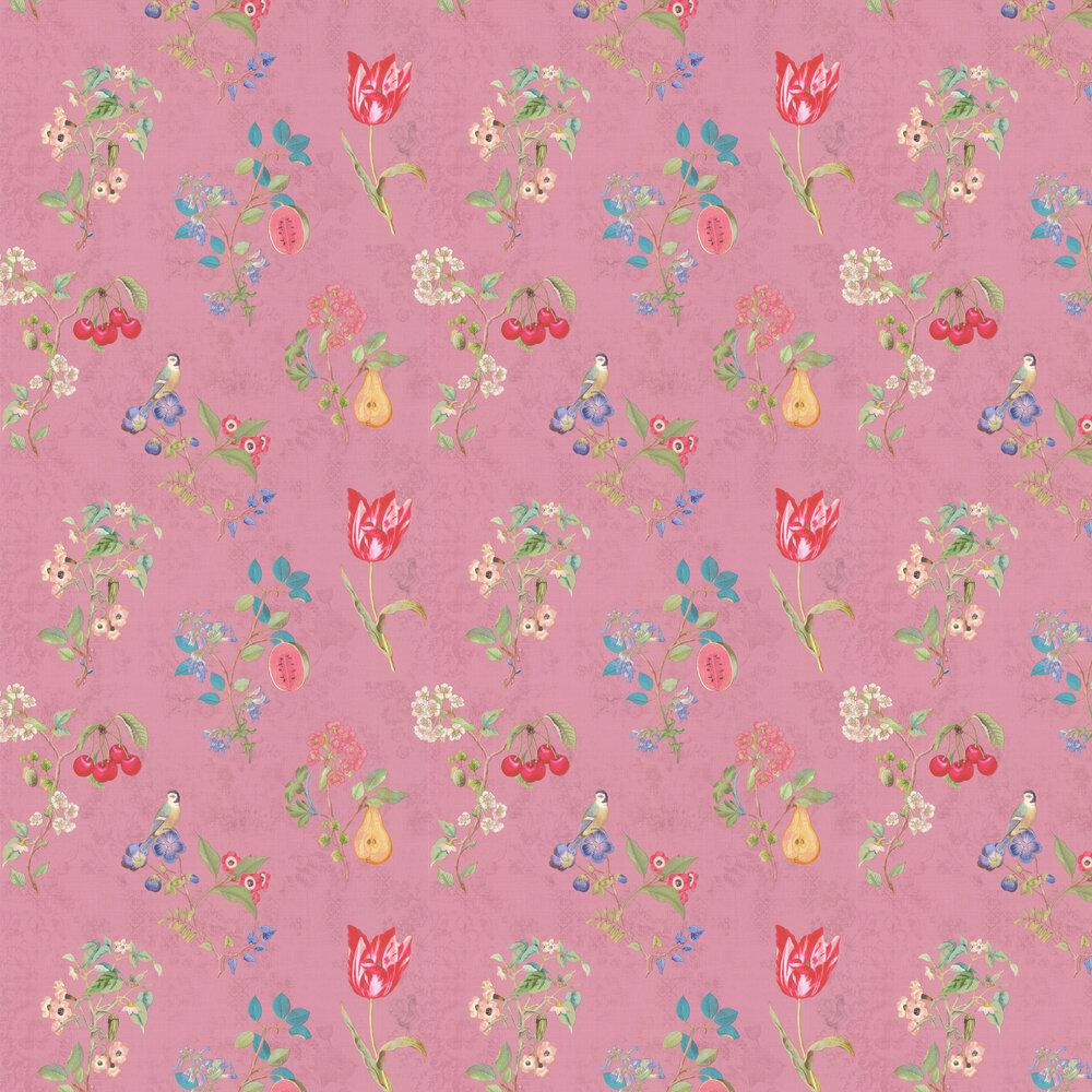 Cherry Pip Wallpaper - Pink - by Eijffinger