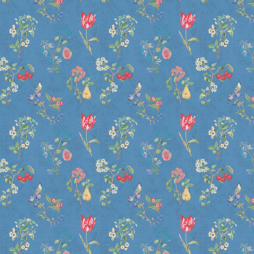 Cherry Pip Wallpaper - Blue - by Eijffinger