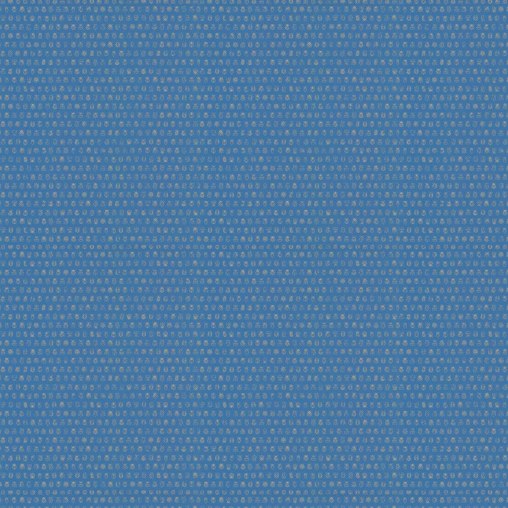 Lady Bug Wallpaper - Blue - by Eijffinger