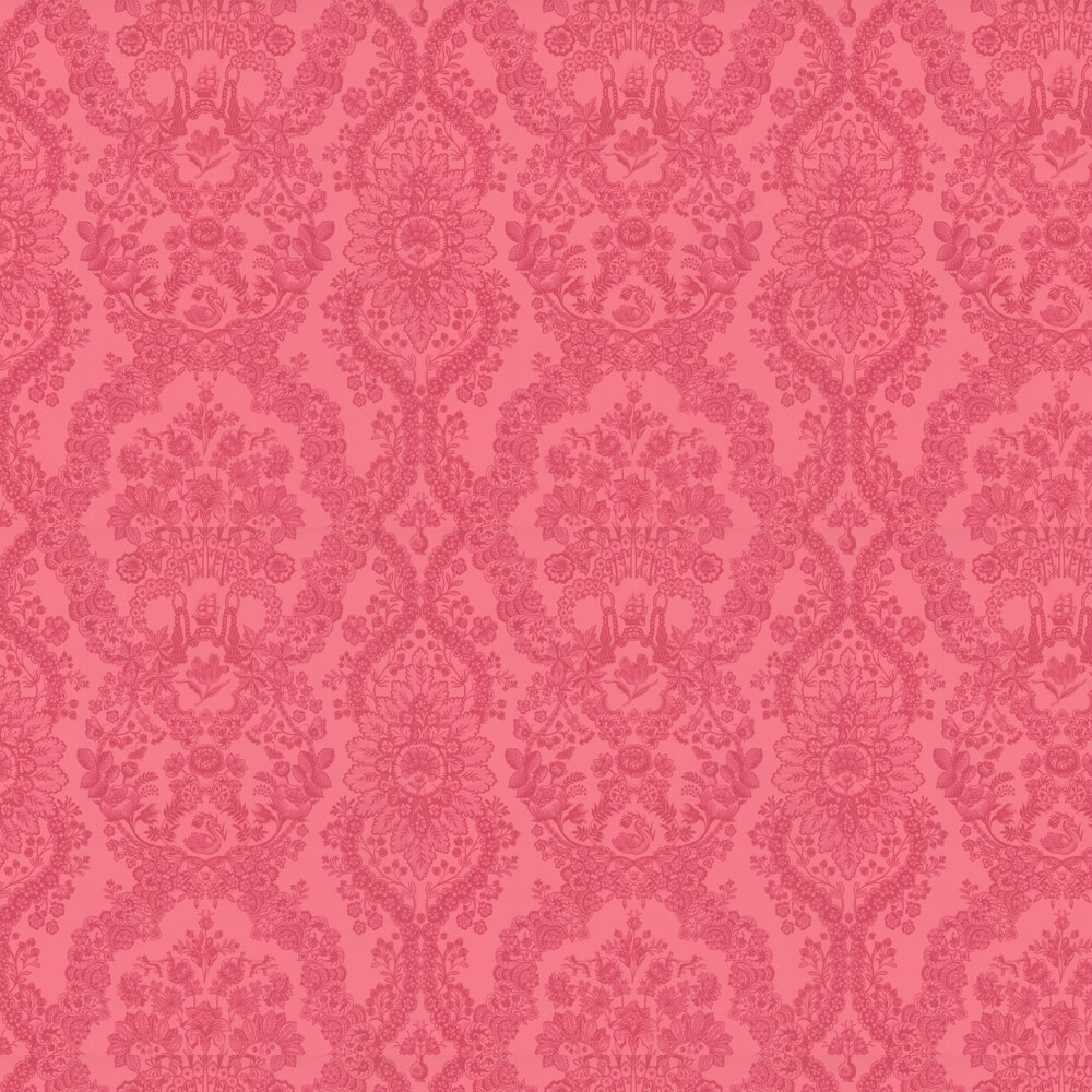 Lacy Dutch Wallpaper - Pink / Red - by Eijffinger