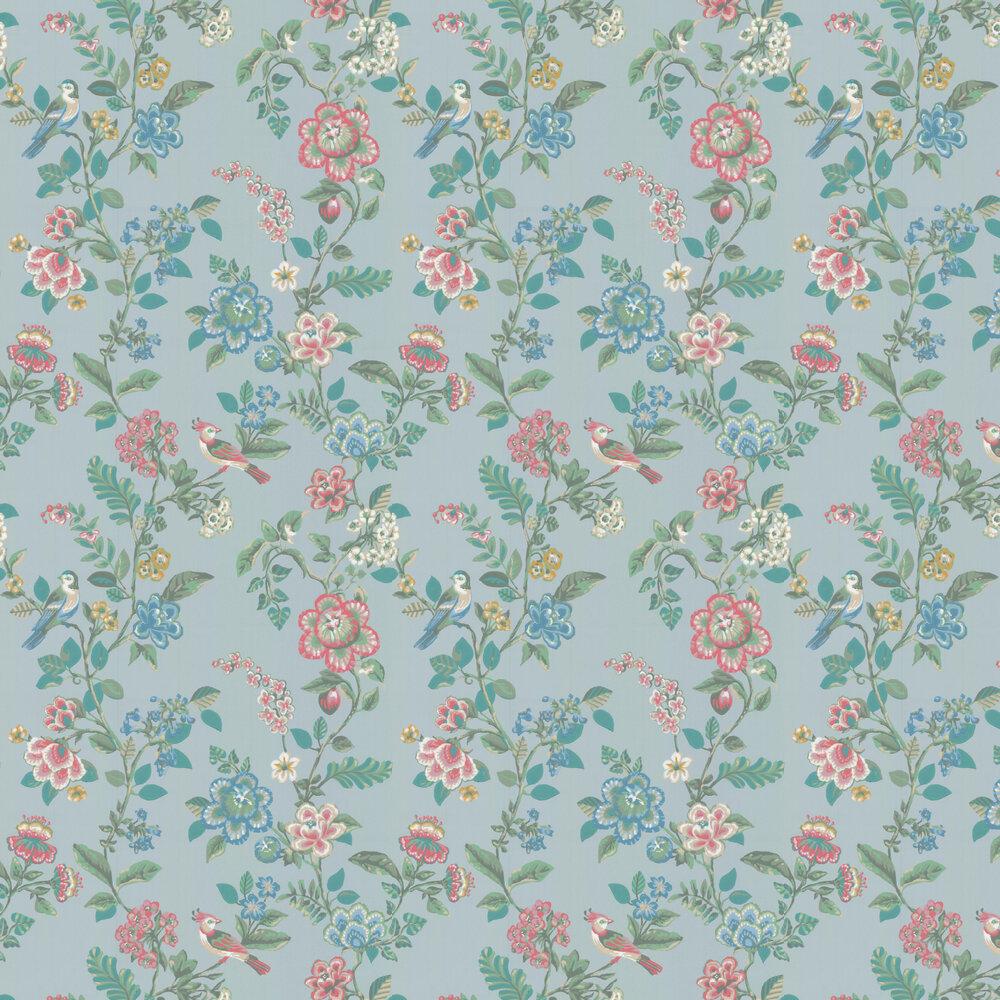 Botanical Print Wallpaper - Green - by Eijffinger