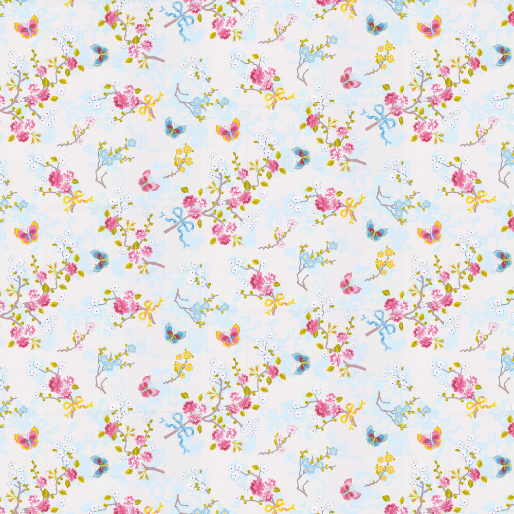 Chinese Rose Wallpaper - Off White - by Eijffinger