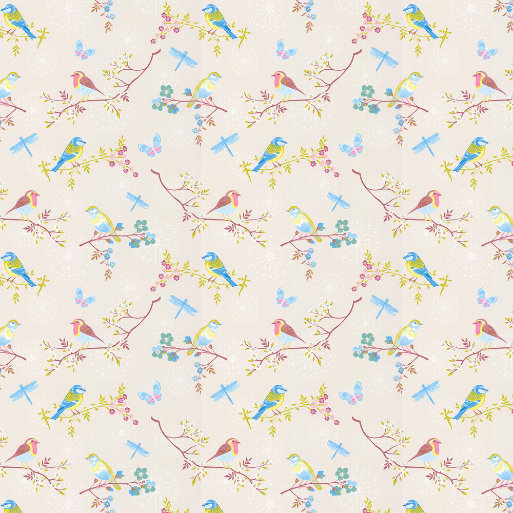 Eijffinger Early Bird Off White Wallpaper - Product code: 375080
