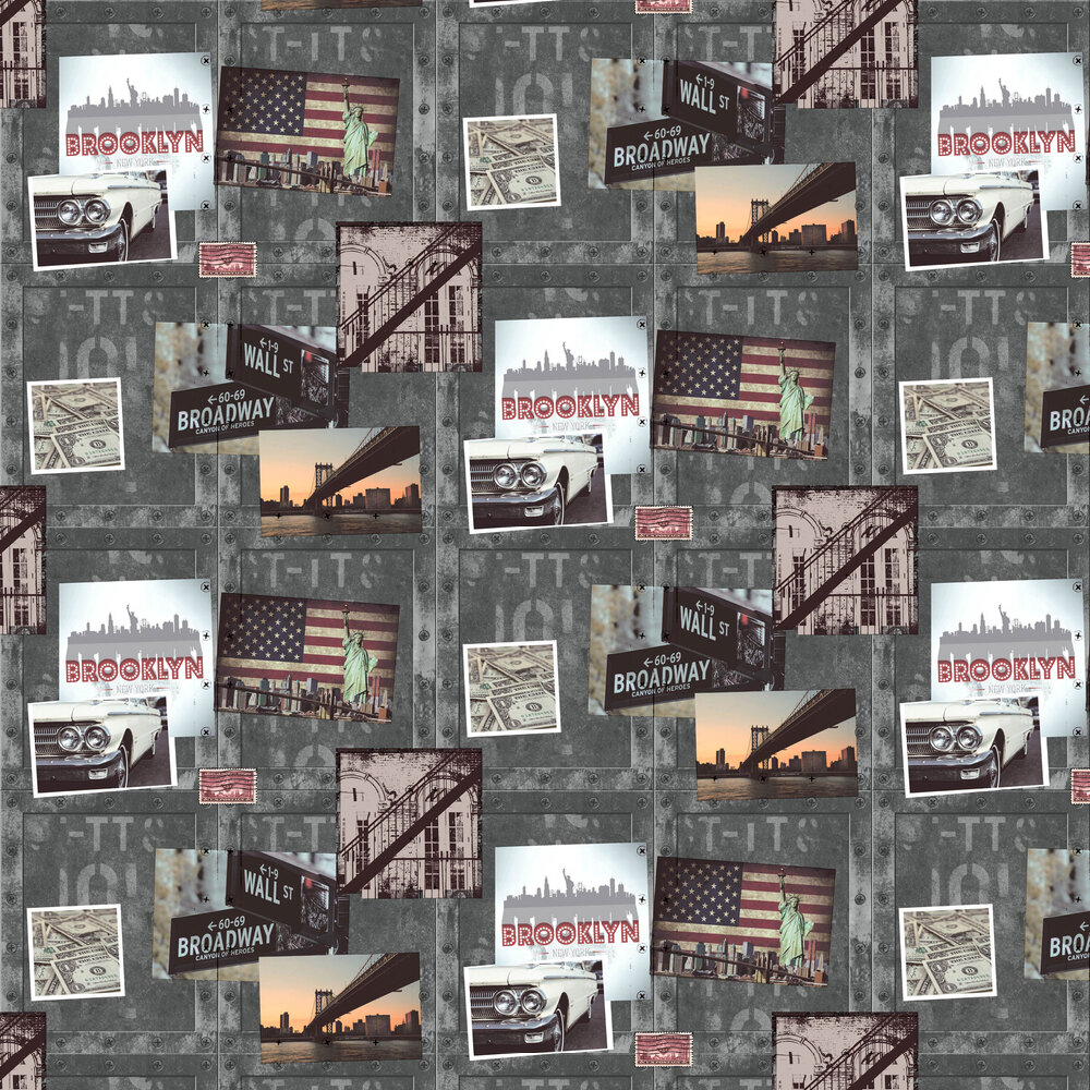 Albany Brooklyn Metal Wallpaper - Product code: A04309M