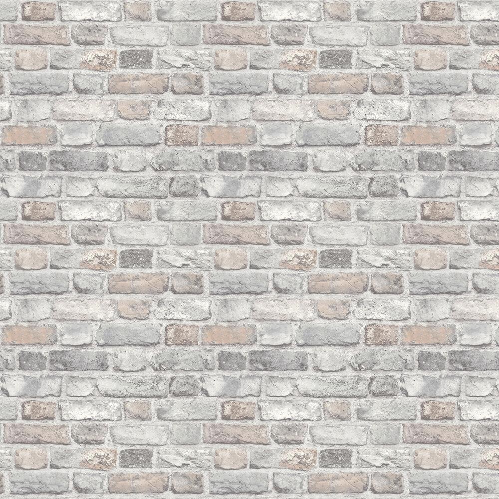 Vintage Brick Wallpaper - Pastel - by Albany