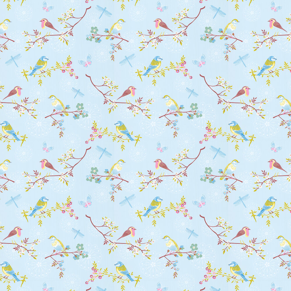 Early Bird Wallpaper - Sky Blue - by Eijffinger