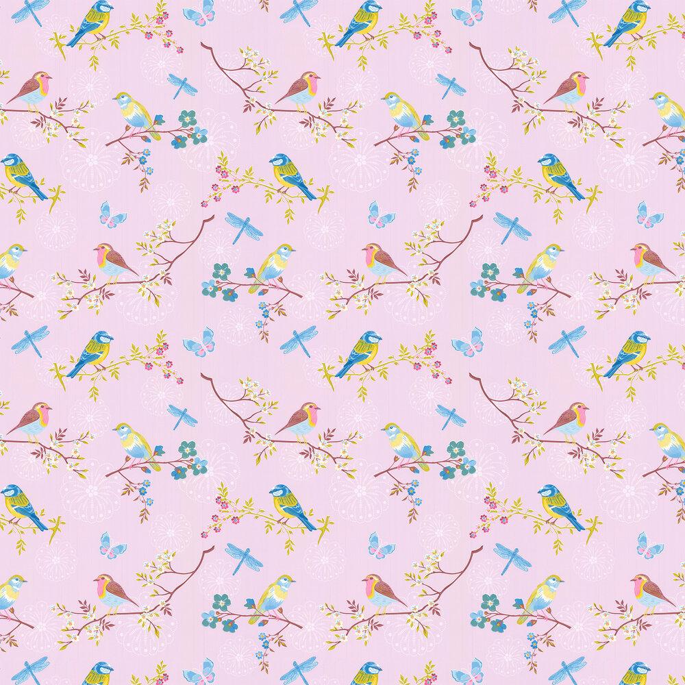Early Bird Wallpaper - Light Pink - by Eijffinger
