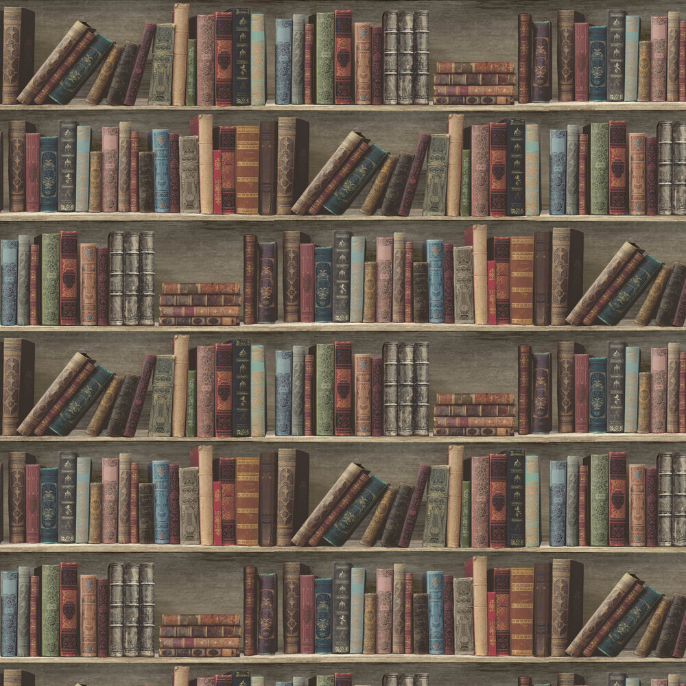 Antique Shelf Wallpaper - Red and Blue - by Albany