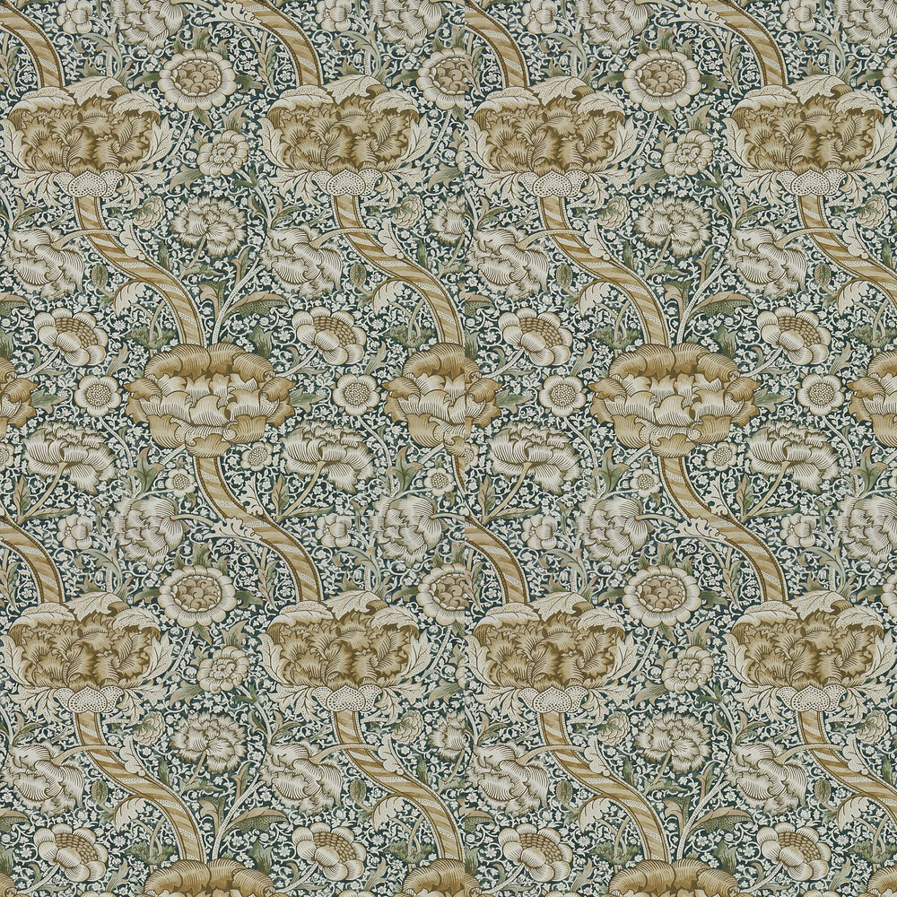 Morris Wandle Forest / Mustard Wallpaper - Product code: 216421