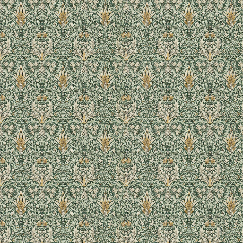 Snakeshead Wallpaper - Forest / Thyme - by Morris